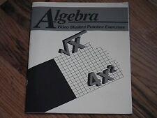Abeka Academy Video Program Student Practice Exercises Algebra A Beka