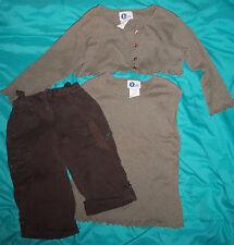 Arizona Jeans Co Girls Tan Jacket Shirt 10/12 Dark Brown Jeans 10 slim lot of 3!