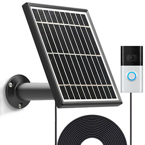 3.5w Solar Panel for Video Doorbell 4(2021)& 2/3/3 Plus,13ft Power Cable Mount