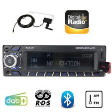 1Din Dab + Coche Radio Head Unit, unidad RDS AM FM reproductor de manos libres Bluetooth MP3 Estéreo