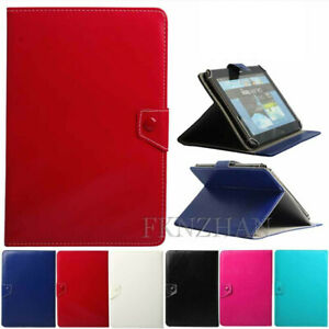 """Leather Stand Case Cover For 7"""" Inch Samsung iPad Lenovo ASUS LG RCA Acer Pad PC"""