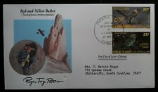 1985 Djibouti Birds 200th Anniv Birth of John J. Audubon FDC ties 2 stamps