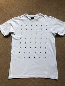 River Island XS Mens Skull White T-shirt Top