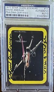 David Ankrum 1977 Star Wars Stickers #11 Signed Auto Wedge Antilles PSA/DNA