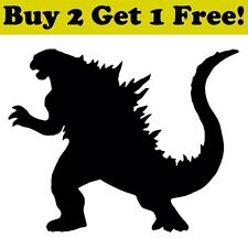 GODZILLA Vinyl Decal Kaiju Monster Lizard Dragon Sticker Car MacBook Window Wall