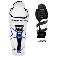 Sher- Wood T50 Shin Pads (Blue and Black), Ice Hockey Shin Pads