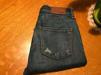 "MADEWELL 9"" HIGH RISER SKINNY SKINNY JEAN TRASHED DESTROYED 25 X 28 NICE!"