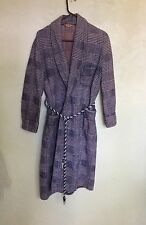 Vintage 1940's 50's PILGRIM BEACON Fabric Plaid Robe L