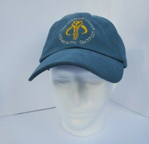 FUNKO Star Wars The Mandalorian Blue Adjustable Strap back Hat Cap NEW EXCLUSIVE