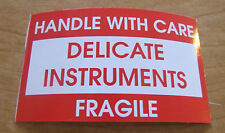 10x Handle w/Care Delicate Instruments Fragile Sticker Decal, Road Case,Shipping