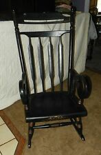 Black Maple Handpainted Rocker / Rocking Chair (R168)
