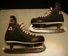 Vintage Official Nhl Canada Daoust Road Runner Leather Hockey Skates Size 10