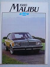 Prospekt 1980 Chevrolet Malibu, 8.1979, 16 Seiten