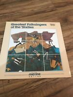 The Greatest Folksingers of the Sixties Lp Mid Line Vanguard VMs 73102 331/3