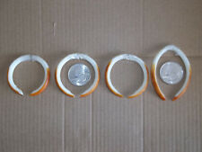 4 Pair Porcupine Teeth, good for jewelry, crafts, art projects, Rodent teeth
