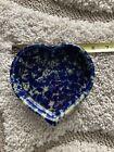 Bennington potters pottery heart shaped dish blue