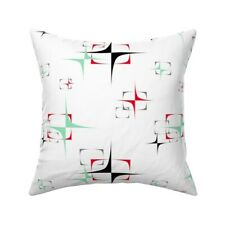 Transceiver Mint Green 1950S Throw Pillow Cover w Optional Insert by Roostery