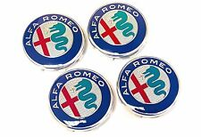 Set of 4 2016 Official Genuine Alfa Romeo GT 50mm Alloy Wheel Center Caps