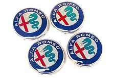 4x 2016 Official Genuine Alfa Romeo GTV Spider  50mm Alloy Wheel Center Caps