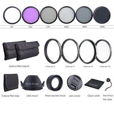 Phot-r 62mm Slim Variable Nd Filtro Plegable 3 En 1 Parasol De Goma Kit