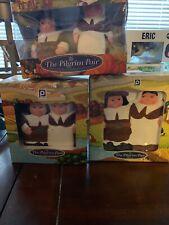 3 Piece Publix Pilgrim Pair Lot: Spoon Rest, Napkin Holder, Salt And Pepper
