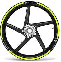 KIT STRISCE ADESIVE compatibili per CERCHI 17 MOTO MT07 YAMAHA MT-07 GIALLO FLUO