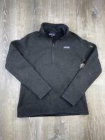 Patagonia Better Sweater Women's M 1/4 zip heather black pullover fleece