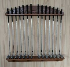 Golf Club Display Rack 14 club  SolidRedOak