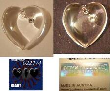 SWAROVSKI HEART W/ STONE PENDANT (6221/4)-CRYSTAL CLEAR