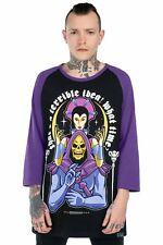 Killstar X Skeletor Raglan T-Shirt - Double Trouble Masters Of The Universe