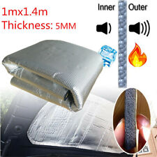 Universal 1x1.4M Aluminum Foil Car Engine Heat Insulation Mat Noise Control Pad