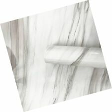 White Granite Look Marble Gloss Film Vinyl Self Adhesive Counter Top Peel and...
