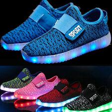 Kinder Jungen Mädchen LED Leuchtende Schuhe Farbwechsel Sneaker Blinkschuhe 2016