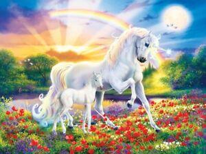 Jigsaw Puzzle Fantasy Unicorn Bedtime Stories 300 EZ Grip pieces NEW Glow dark