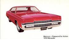 Print.  Red 1970 Mercury Marauder auto ad
