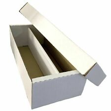 1 2 5 10 BCW 1600 ct. 2 Row Shoe Box Collectible Game Sport Card Board Storage