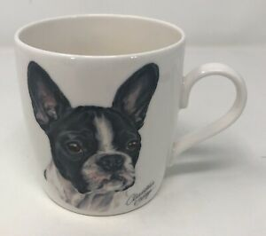 Boston Terrier Mug by Waggy Dogz, Black and White Dog, Puppy By Christine Varley