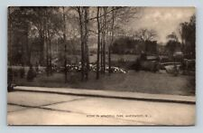 Postcard Scene In Memorial Park Maplewood NJ New Jersey Early 1900s 1H