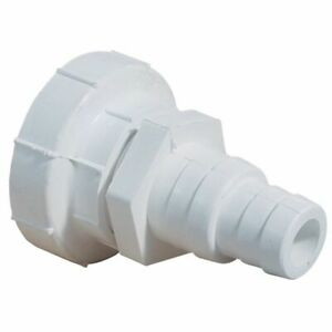 """Plastic Connector 1 1/2"""" BSP male or female -32/38mm male hose tails"""