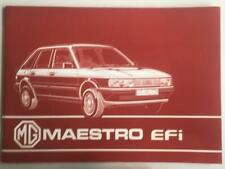 MG Maestro EFi Car Owners Manual Handbook July 1984 #AKM5580