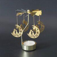 Candlesticks Rotating Candle Holder Romantic Spinning Carousel Tea Light Xmas