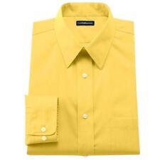 NWT Croft & Barrow Men's Classic Fit Broadcloth Dress Shirt 16  32/33 YELLOW