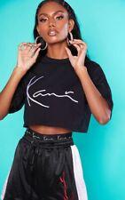 New ladies pretty little thing size 4 u.k Karl Kani black cropped t- shirt