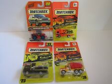 Matchbox~Get In The Fast Lane~Set of 4~Peterbilt Dump Truck~Volvo Container~Farm