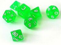 RPG Würfel Set 7-teilig DND Poly W4-W20 dice4friends Rollenspiel Tabletop Grün