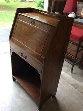 Antique Larkin Slant Front Desk Quarter Sawn Oak Small Drop Front Writing Desk