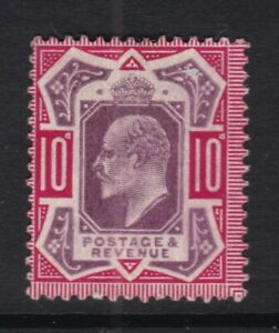 Edward VII, 10d unused mng. Spacefiller - surface rub.