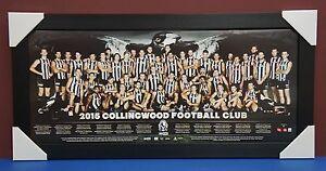 Collingwood Magpies 2015 OFFICIAL AFL Team Print Black Framed Scott Pendlebury