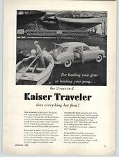 1950 PAPER AD 1950 Kaiser Traveler Motorboat Towing Hauler Cargo Cruiser