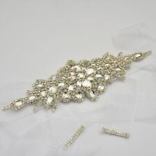 Rhinestone Waist Belt Bridal Wedding Dress Diamante Sash Belt 6 Colours